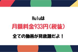 Hulu 月額料金933円